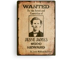 Jesse James Wanted Poster Metal Print