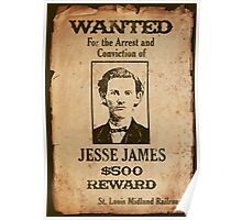 Jesse James Wanted Poster Poster
