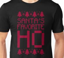 Santa's Favorite Ho T-Shirt, Funny Mens Womens Christmas Gift, Ugly Christmas Sweater Unisex T-Shirt