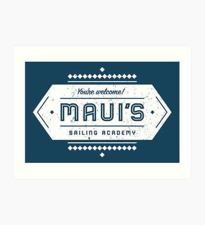 Maui's Sailing Academy Art Print