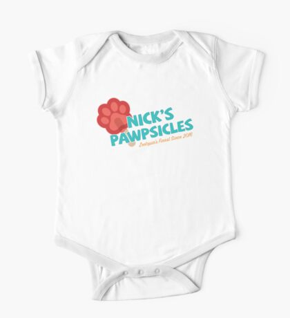 Nick's Pawpsicles One Piece - Short Sleeve