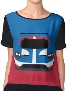 GT Race car simplistic design Chiffon Top