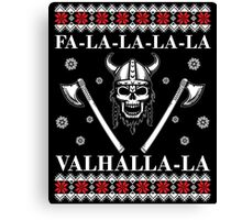 Valhalla Ugly Christmas Sweater, Men Women Viking T-Shirt Canvas Print