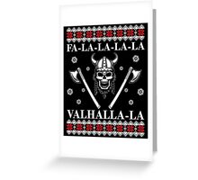 Valhalla Ugly Christmas Sweater, Men Women Viking T-Shirt Greeting Card