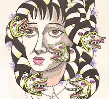 Lydia Deetz (Beetlejuice) as Medusa LIMITED TIME ONLY by starkgravingmad