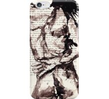 ink on paper, very old paper iPhone Case/Skin