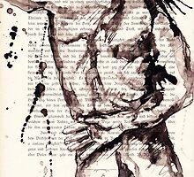 ink on paper, very old paper by Krzyzanowski Art