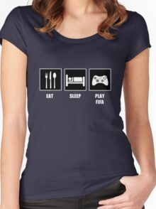 EAT SLEEP PLAY FIFA Women's Fitted Scoop T-Shirt
