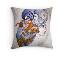 Amphitrite and Poseidon Throw Pillow
