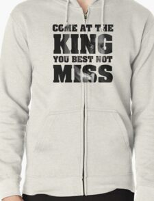 Omar Little - The Wire - Come at the king Zipped Hoodie