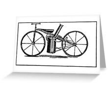 The very first motorbike or steam velocipede Greeting Card