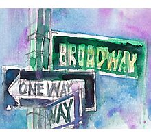Broadway Sign Photographic Print