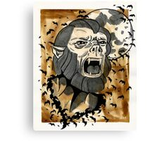 Universal Horror Monster: The Wolf Man Canvas Print