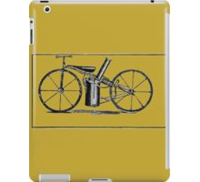 The very first motorbike or steam velocipede iPad Case/Skin