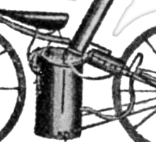 The very first motorbike or steam velocipede Sticker