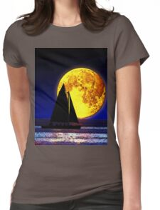Night Sails Womens Fitted T-Shirt
