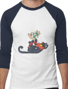 Litten and Rowlet! Men's Baseball ¾ T-Shirt