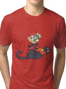 Litten and Rowlet! Tri-blend T-Shirt