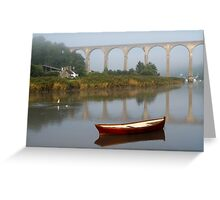 Calstock, Viaduct over the Tamar Greeting Card
