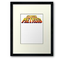 Space Metroid Title Screen Framed Print