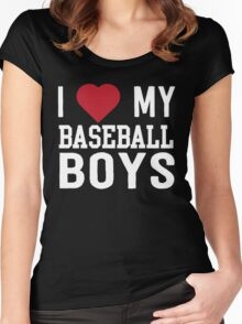 I love my baseball boys Women's Fitted Scoop T-Shirt