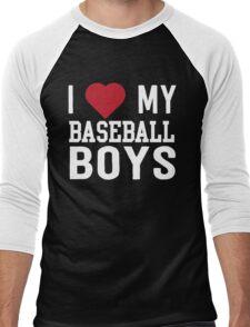 I love my baseball boys Men's Baseball ¾ T-Shirt