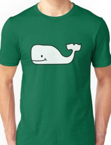 Black and White Contour Funny Whale Unisex T-Shirt