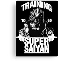 Training to go Super Saiyan (White Edition) Canvas Print