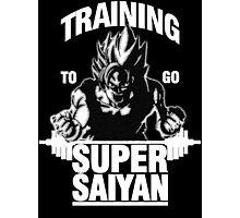 Training to go Super Saiyan (White Edition) Photographic Print