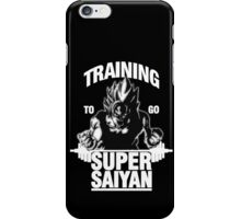Training to go Super Saiyan (White Edition) iPhone Case/Skin