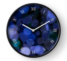 Blue bokeh circles blurred texture Clock