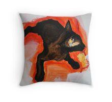 That Black Cat Throw Pillow