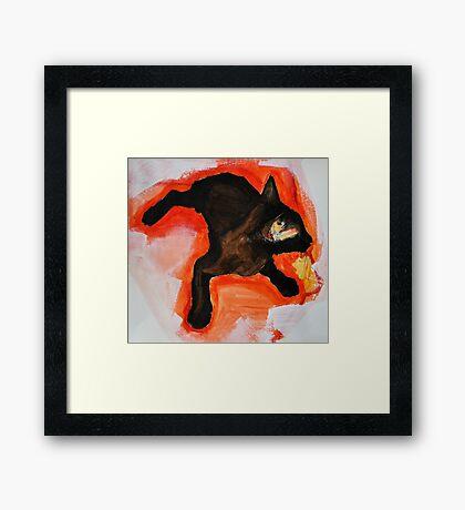 That Black Cat Framed Print