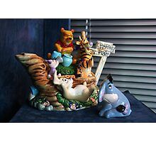 Winnie-the-Pooh and Friends Teapot Photographic Print