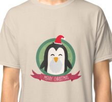 Santa Penguin Merry Christmas Classic T-Shirt