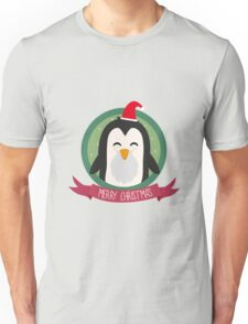 Santa Penguin Merry Christmas Unisex T-Shirt