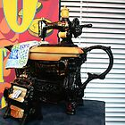 Infusion Sewing Machine Teapot  by Marilyn Harris