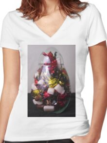 lollie jar 2 (edit) Women's Fitted V-Neck T-Shirt