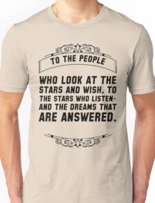 To the people who look Unisex T-Shirt