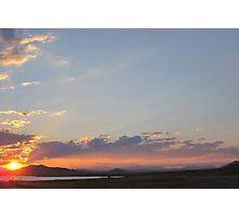 Water Sunset Photographic Print