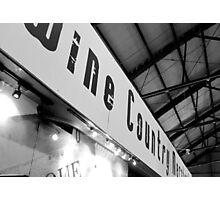 Toronto: Wine Country Marketplace Photographic Print