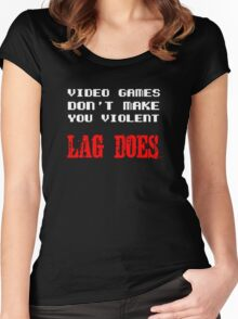 Video games don't make you violent Women's Fitted Scoop T-Shirt