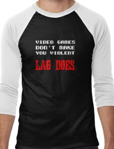 Video games don't make you violent Men's Baseball ¾ T-Shirt