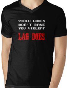 Video games don't make you violent Mens V-Neck T-Shirt