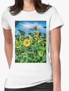 Sunflower Field Womens Fitted T-Shirt