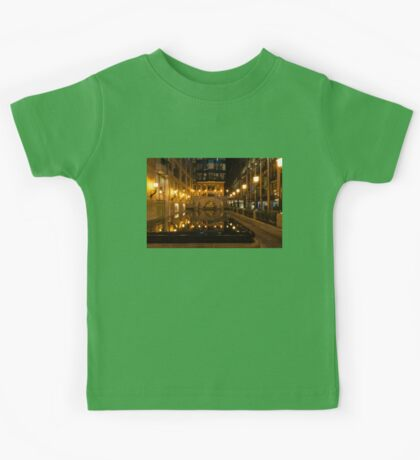 Elegant Symmetry - Reflections in Gold and Black Kids Tee