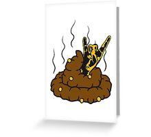 hörner heavy metal hard rock musik party handzeichen satan teufel stückchen fladen kleines scheiße kacke haufen kot riechen ekelhaft häufchen  Greeting Card
