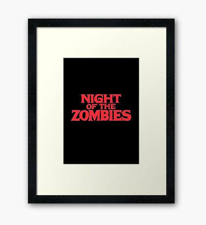 Night of the zombies! Framed Print