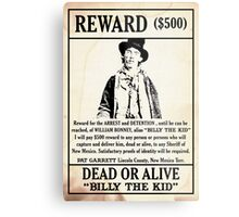 Billy the Kid Wanted Poster Metal Print