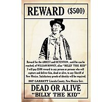 Billy the Kid Wanted Poster Photographic Print